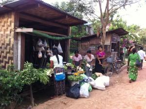 ヤンゴン近郊の村