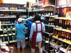 ワインで店員にきく